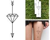 Diamond Arrow - Temporary Tattoo (Set of 2)