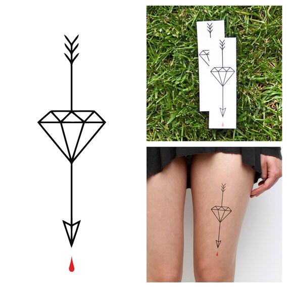 diamant fl che tatouage temporaire ensemble de 2. Black Bedroom Furniture Sets. Home Design Ideas
