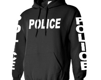 POLICE Sheriff Hoodie hooded sweatshirt sweat shirt jumper