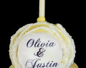 PERSONALIZED Wedding Cake Pop Favors
