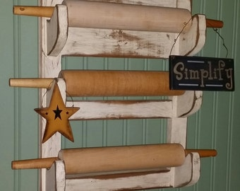 Primitive Rolling Pin Hanging Rack