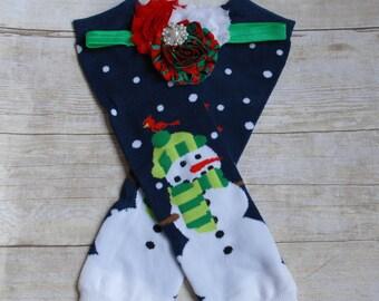 2 pieces Christmas Leg Warmer and headband  - Baby Girl Christmas Leg Warmer
