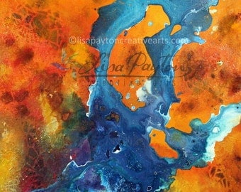 Desert River - Abstract Limited Edition Mixed Media Painting on Canvas