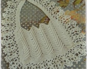 HEIRLOOM Crochet Baby Bib - Christening/Baptism Bib - Baby Shower Gift - Hand crocheted by Old Vintage Bike