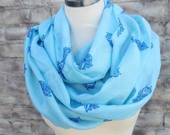 Fashion  infinity scarf   with owl print