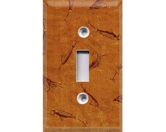 Nature Lover Collection - Fishing Lures Light Switch Cover