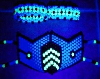 SubZero Kandi Rave Mask with 2 matching xbase cuffs
