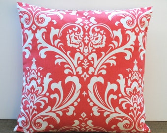 One Premier Print coral pillow covers, cushion, decorative throw pillow, decorative pillow, accent pillow