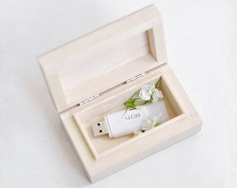 Wedding USB case, wedding case, wooden Wedding USB case, wedding case, wooden box, keepsake box, natural wood, unpainted wood