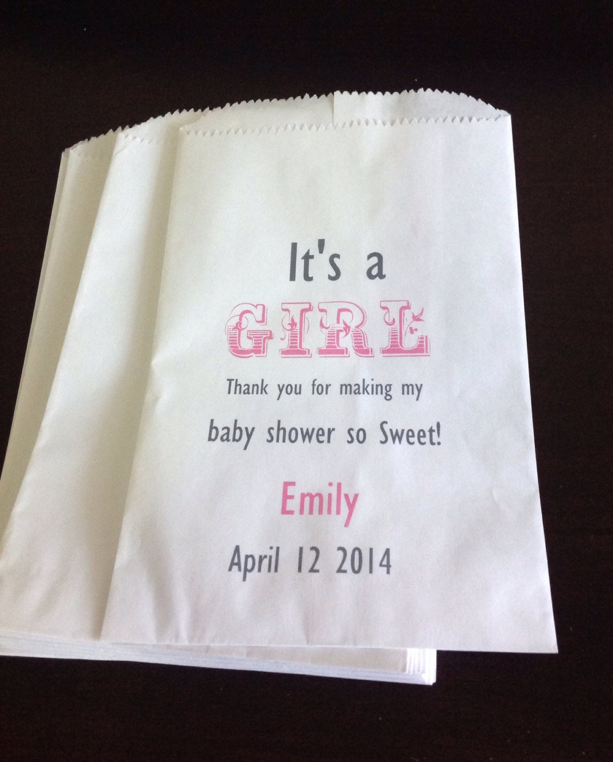 Personalized Baby Shower Candy Buffet Bags Candy by ...