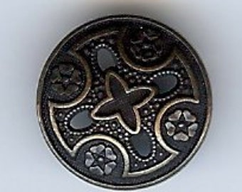 BC74 or BC73 or BC167 or BC168 or BC169 - Metal  Button - Medieval Templar Metal Cross Button. Multiple size and colors.