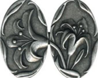JH4044  - Lilies Cloak Clasp  - Metal