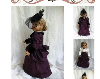 "HH304 - 1870s Victorian Walking Ensemble for 18"" Doll Sewing Pattern by Hint of History"