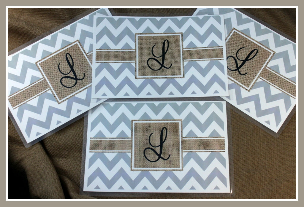 Personalized burlap look placemats custom place mats for Table mats design your own