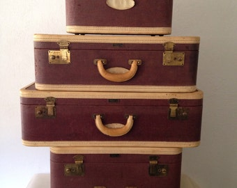 Four Piece Luggage Set - Made by Wings United Luggage