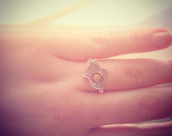 Silver Hamsa Hand Rings