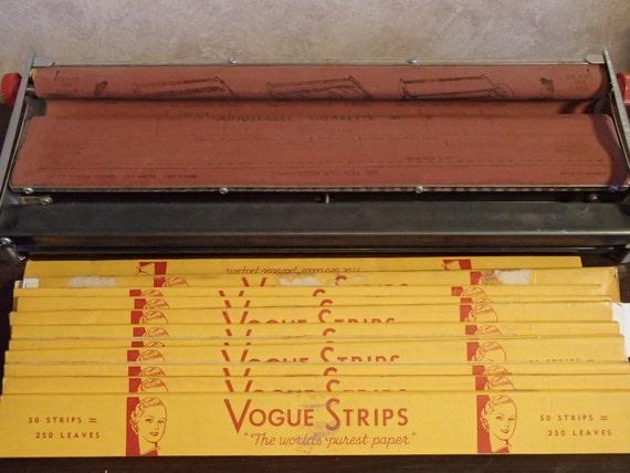 Vintage V Master Cigarette Rolling Machine With 11 Packs Of