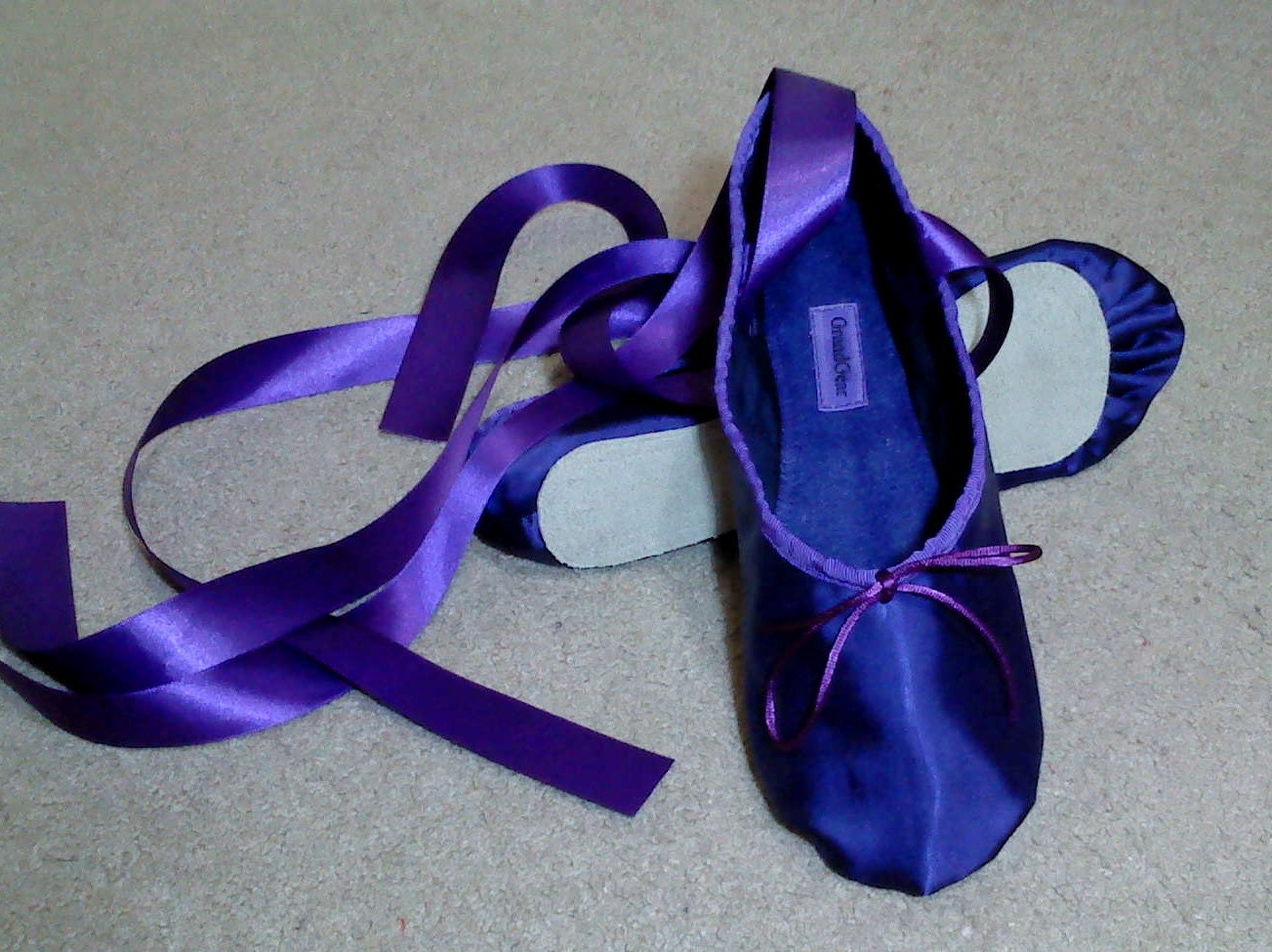 Purple Ballet Pointe Shoes