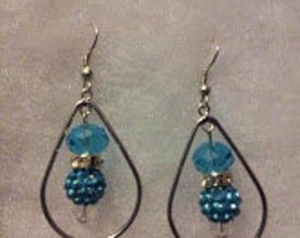 Lake Blue Teardrop Earrings