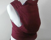 Pure Linen Baby Carrier, Linen Mei Tai Baby Carrier, Red Baby Gear, Soft Structured Carrier, Wrap Straps Baby Sling,Plus Sized Carrier,CPSIA