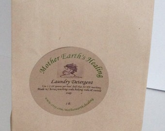 All Natural Non Toxic Powdered Laundry Detergent For Sensitive Skin and Cloth Diapers,Hypoallergenic Laundry Care,Vegan Laundry Detergent
