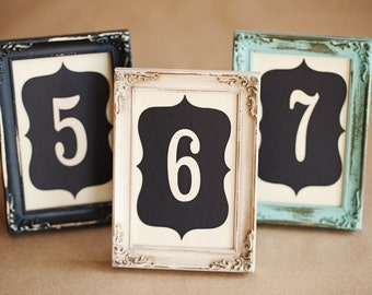 Wedding Table Numbers, 4x6, Custom Made - Choose your Colors & Quantity