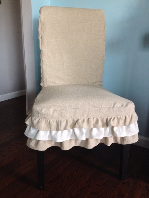 Items Similar To Parsons Chair Slipcover Linen Slipcover