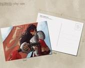 Woman Warrior Postcard