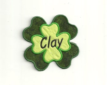 Your Name on a Four Leaf Clover, Patch! Custom Made!