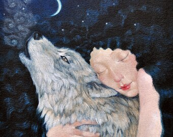 """Limited edition giclée print of original painting by Lucy Campbell - """"Your Wild"""""""