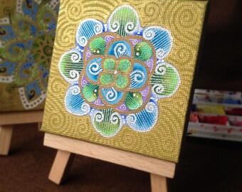 Original Mandala painting: Mandala 7-5cmSQ-16