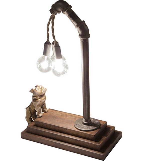 Mack Truck Bulldog Touch Sensor Lamp Brass