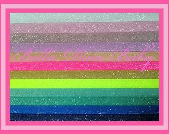 """3/8"""" Elastic Frosted glitter Skinny YARD- FOE - fold over elastic -Glitter velvet elastic to make headbands"""