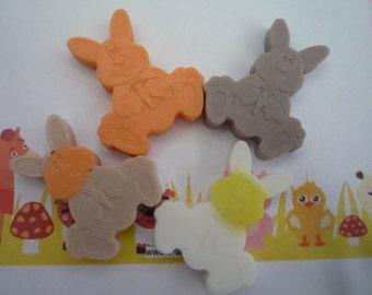 bunny rabbit mini soaps x 5