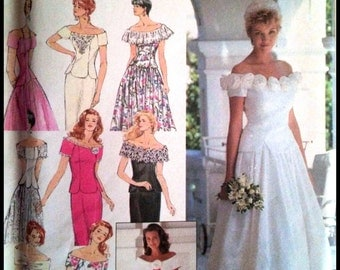 Simplicity 8865  Misses' / Miss Petite Two Piece Dresses' And Bridesmaids' Dress with Slim or Full Skirt  Size (6-10)  UNCUT