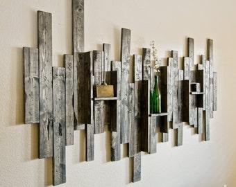 Genial Rustic Display Shelf Decorative Wall Art