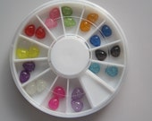 OD-130 3D 1 Wheel Types 12-color Resin Drop Decoration  in wheel Shiny Nail Decoration Lovely Outlooking