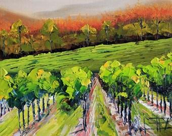 Commission, Napa Valley Painting, Original Painting, California Vineyard, Wine Country, Landscape art,Art by San Francisco Artist Lisa Elley
