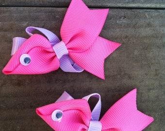 Pink fish hair clip