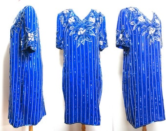 Vintage Blue Sequin Shift Dress