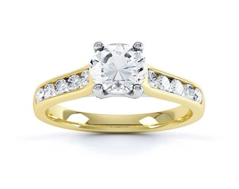 Moonlight 18ct Yellow Gold Round Solitaire Diamond Engagement Ring 1ct