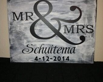 9x12 wedding sign
