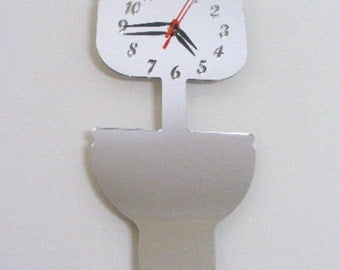 Toilet Clock Mirror (High Level Cistern)  - 2 Sizes Available