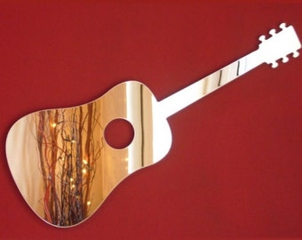 Acoustic Guitar Shaped Mirrors - 5 Sizes Available