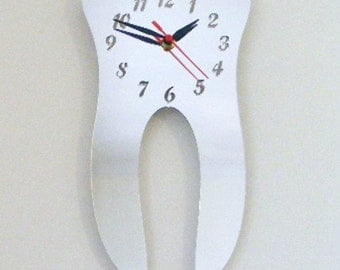 Tooth Clock Mirror - 2 Sizes Available