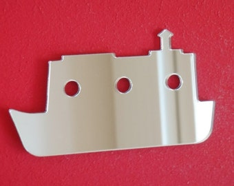 Barge Narrow Boat Shaped Mirrors - 5 Sizes Available