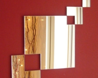 Square Chain Mirror - 2 Sizes Available