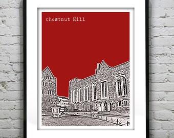 Chestnut Hill Boston Art Print Poster Massachusetts MA Version 5