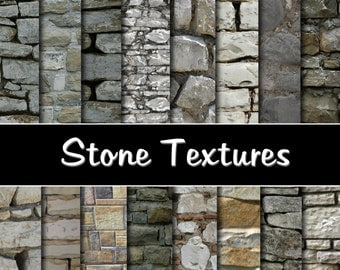 "Stone Wall Digital Paper Pack - Instant download ""STONE WALL"", Vintage Paper; Scrapbooking, Invites, Cardmaking no.126"
