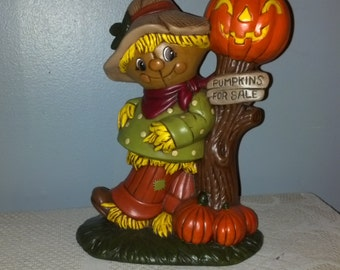 Hand Painted Ceramic Cheerful Scarecrow